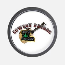 Cowboy Patrol Wall Clock
