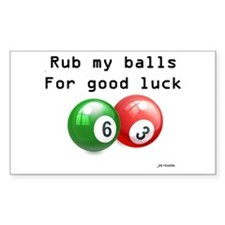 Rub My Balls for Luck Decal