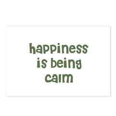 happiness is being calm Postcards (Package of 8)