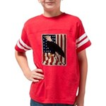 Bald Eagle and Flag Youth Football Shirt