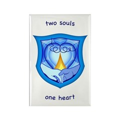 2 Souls 1 Heart Rectangle Magnet (10 pack)