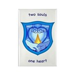 2 Souls 1 Heart Rectangle Magnet