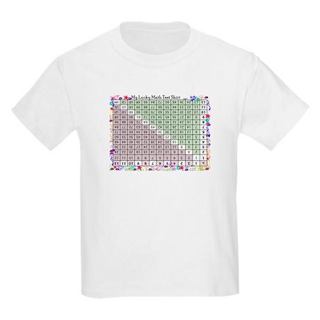 Multiplication Chart Kids Light T-Shirt