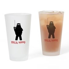 Cute Hippopotamus Drinking Glass