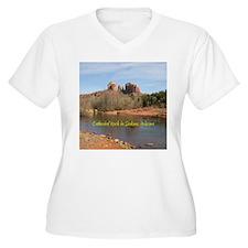 Cathedral Rock Sedona Plus Size V-Neck T-Shirt