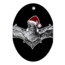 bat-santa-hat_13-5x18.png Ornament (Oval)
