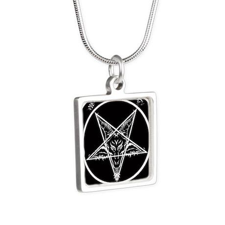 satan goat pentagram sigil of baphomet Necklaces