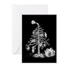 gothic-xmas-tree-c.jpg Greeting Cards (Pk of 10)