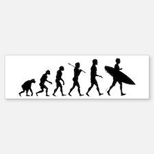 Human Surfer Evolution Bumper Bumper Sticker