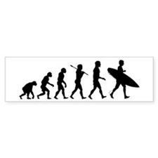 Human Surfer Evolution Car Sticker