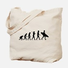 Human Surfer Evolution Tote Bag
