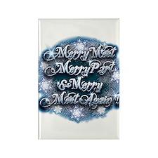 Winter Merry Meet Rectangle Magnet