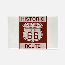 Glendora Route 66 Rectangle Magnet