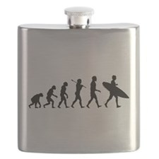 Human Surfer Evolution Flask