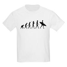 Human Surfer Evolution T-Shirt