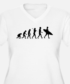 Human Surfer Evolution T-Shirt