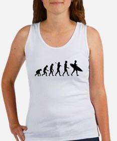 Human Surfer Evolution Women's Tank Top