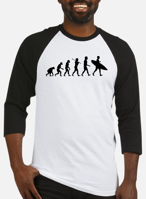 Human Surfer Evolution Baseball Jersey