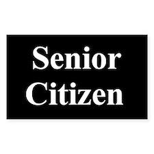 """""""Senior Citizen"""" Rectangle Decal"""