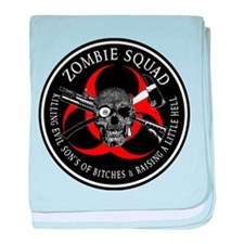Zombie Squad 3 Ring Patch outlined baby blanket