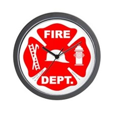 Fire Depart. Emblem Wall Clock