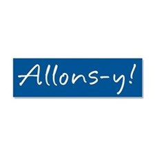 French Allons-y Car Magnet 10 x 3