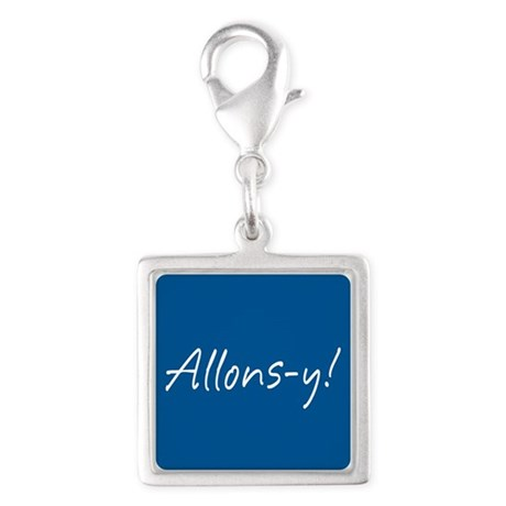 French Allons-y Silver Square Charm