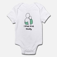 Ride With Daddy Green Infant Bodysuit