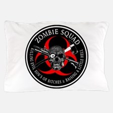 Zombie Squad 3 Ring Patch outlined Pillow Case