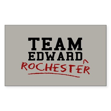 Team Edward Rochester Sticker (Rectangle)