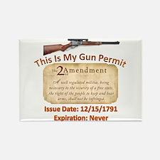 My Gun Permit Rectangle Magnet
