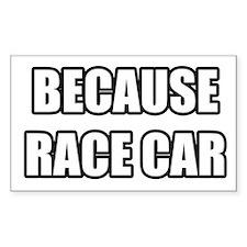 BECAUSE RACE CAR Decal