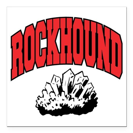 "Rockhound Square Car Magnet 3"" x 3"""