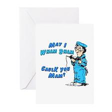 WHAM BHAM CAULK YOU MAM -  Greeting Cards (Package