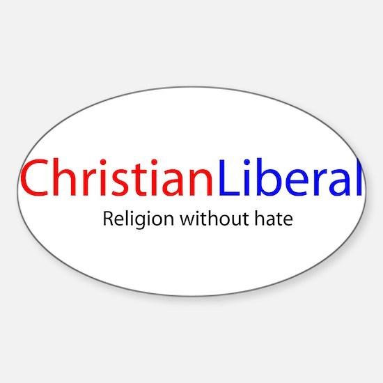 Christian Liberal Rectangle Decal