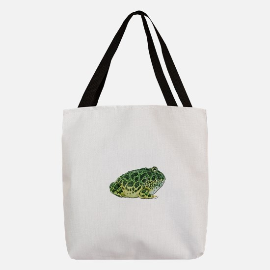 FIN-pacman-frog.png Polyester Tote Bag
