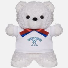 CUSTOM TEXT Besties (blue) Teddy Bear