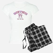 CUSTOM TEXT Besties (pink) Pajamas
