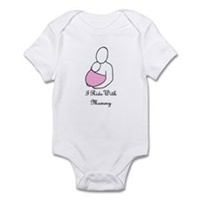 Ride With Mommy Pink Infant Bodysuit