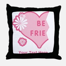 CUSTOM TEXT Best Friends (left half) Throw Pillow