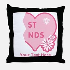 CUSTOM TEXT Best Friends (right half) Throw Pillow