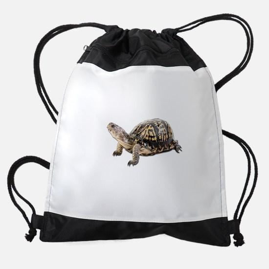 FIN-ornate-box-turt... Drawstring Bag