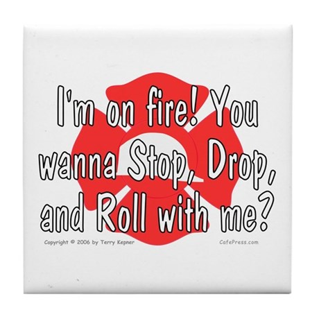 I'm on fire! Tile Coaster