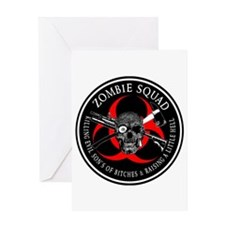 Zombie Squad 3 Ring Patch outlined Greeting Card