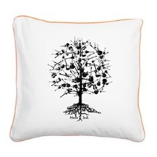 Guitartree Square Canvas Pillow