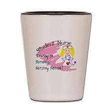 Funny Nursing student Shot Glass