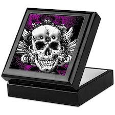 Grunge Skull Keepsake Box
