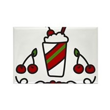 Cherry Drink Rectangle Magnet