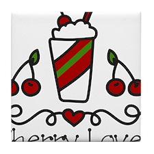 Cherry Lover Tile Coaster