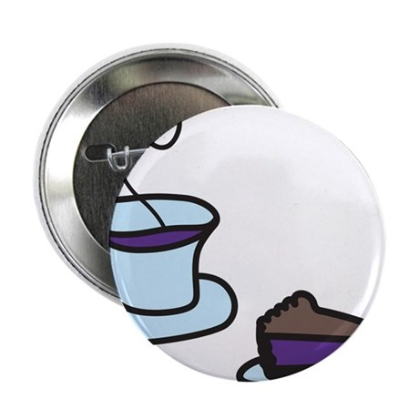 """Coffee And Pie 2.25"""" Button"""